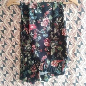 Fall Floral Print Jeggings Faded Glory Medium